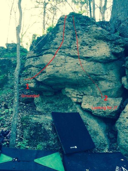 Left side of the JT boulder