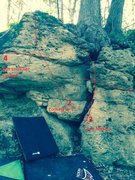 Rock Climbing Photo: Right side of the JT boulder