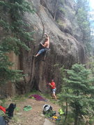 Rock Climbing Photo: Danny Mauz in the initial bouldery crux. This was ...