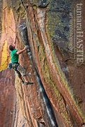 Rock Climbing Photo: Danny Mauz on the FA of Shaman School 5.13-, Middl...