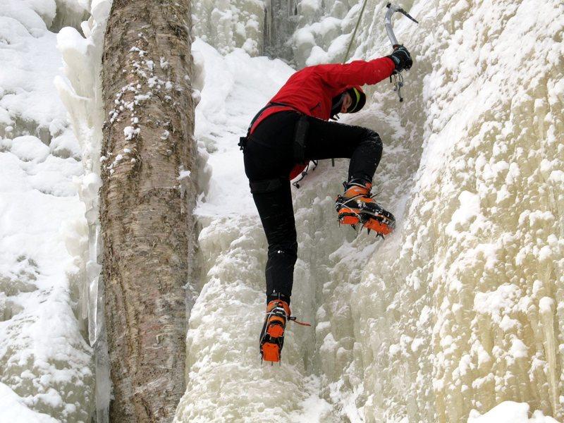 Rock Climbing Photo: ice climbing 1st time