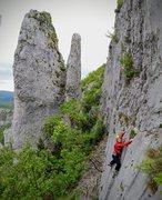 Rock Climbing Photo: Barb on Motika Direct