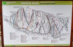 Rock Climbing Photo: Route map on the trail to the rock.