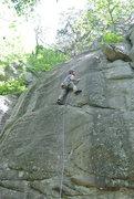 Rock Climbing Photo: Jon J leading Mammalary Magic 5-31-15.