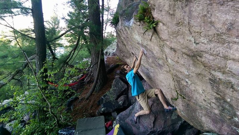 Rock Climbing Photo: Pulling on the start holds