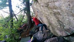 Rock Climbing Photo: Andrew Nimmer just before launch