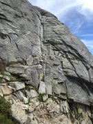 Rock Climbing Photo: Start of Route.  Location: about 1.65 miles up the...