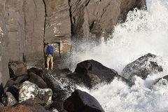 Rock Climbing Photo: Belaying at Joyama