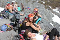 Rock Climbing Photo: soaking up the sun on the Sunny Side, near Worthin...