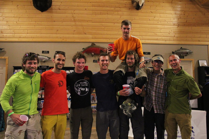 Rock Climbing Photo: Here we have the climbing comp crew.  Nice job guy...
