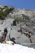 Rock Climbing Photo: Warming up on the Sunny Side.