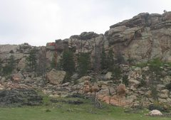 Rock Climbing Photo: Location of route