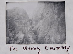 """Rock Climbing Photo: Lower Section of """"The Wrong Chimney"""", B&..."""