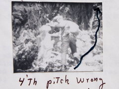 "Rock Climbing Photo: ""Winky"" [Ward] Hastings Recovers ""B..."