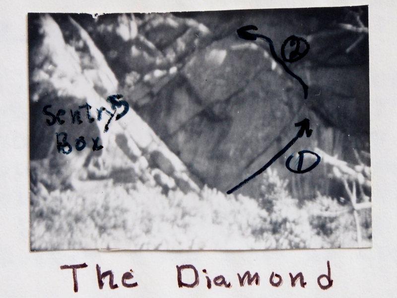 """The """"Diamond Area""""@SEMICOLON@ B&W photo, circa late 1960's"""