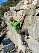 Rock Climbing Photo: Joel Unema and the Railroad Wall.