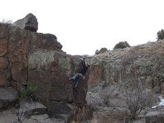Rock Climbing Photo: JJ at Turkey Tanks.