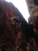 Rock Climbing Photo: Fun layback moves on this route Photo: Isabel Reba...