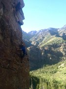 Rock Climbing Photo: Almost to the ledge. Photo: Boris Yaworsky
