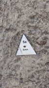 Rock Climbing Photo: Route Plaques like these are all over the park and...