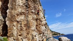 Rock Climbing Photo: Barb enjoying the sun