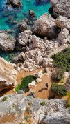 Rock Climbing Photo: View of your belayer from half way up the wall.  Y...