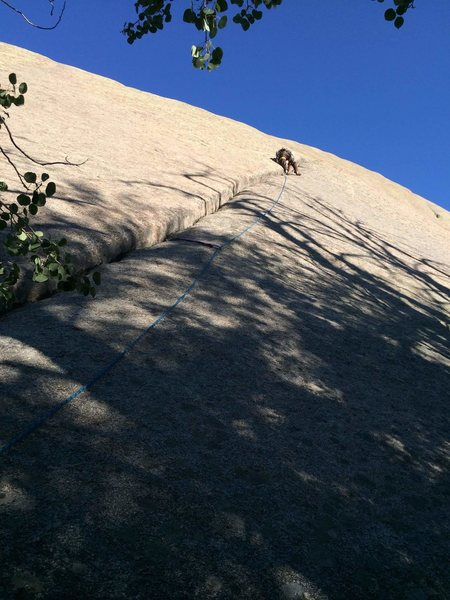 leading pitch 1 of this fantastic route