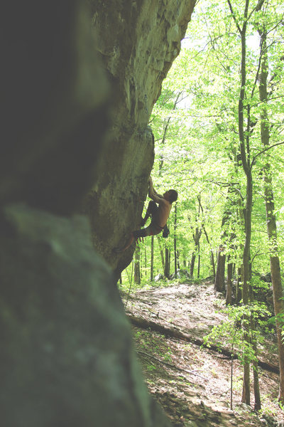 "Rock Climbing Photo: ""Trail of Tears"" Jordan Fugitt"