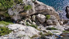 Rock Climbing Photo: View from the anchors of Galeb