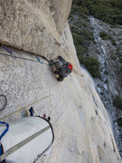 Rock Climbing Photo: Jugging on Lurking Fear