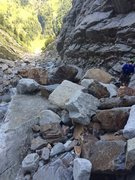 Rock Climbing Photo: The sun deck is littered with rocks but is still p...