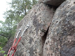 Rock Climbing Photo: Finish hold at the anchor