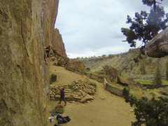 Rock Climbing Photo: Enjoying luscious laybacks and sick side pulls on ...