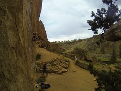 Rock Climbing Photo: Going (up) Overboard, 5.11c