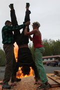 Rock Climbing Photo: Dane loves his upside down fire and that's why we ...