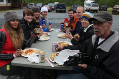 Rock Climbing Photo: Nothing better than some moose spaghetti after a s...