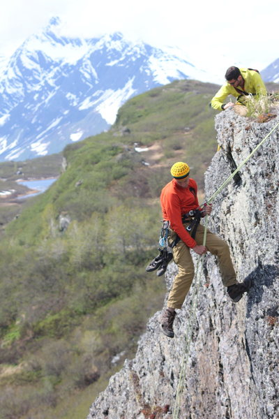 Rock Climbing Photo: Rappelling in at Blueberry Lake on the last day of...