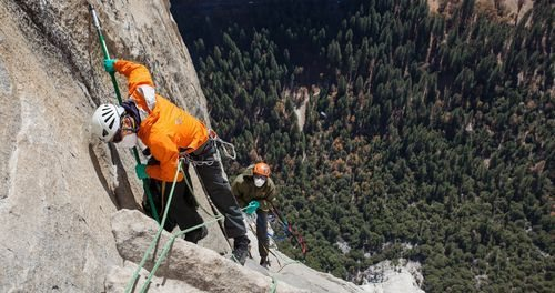 Rock Climbing Photo: NPS Rangers hard at work on The Nose