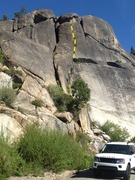 Rock Climbing Photo: Route as seen from HWY 40