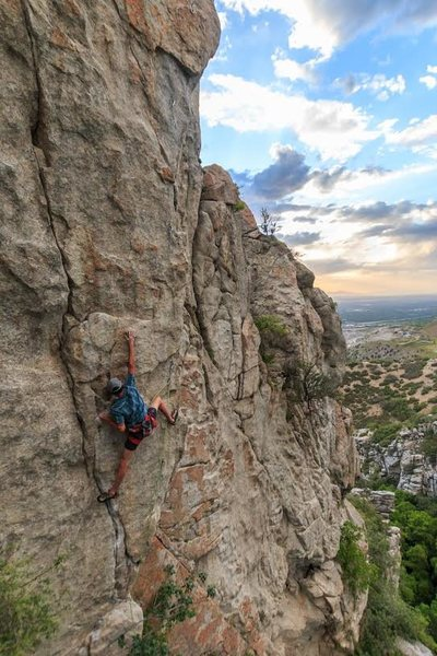 Rock Climbing Photo: On Fuego! Fergie's finest line