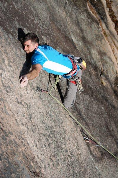 Rock Climbing Photo: THE move. Climber, Jonathan Baldassare.