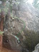 Rock Climbing Photo: Beta pic.