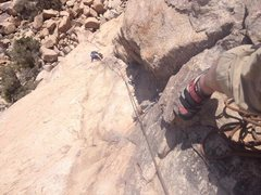 Rock Climbing Photo: Ward climbing up P2
