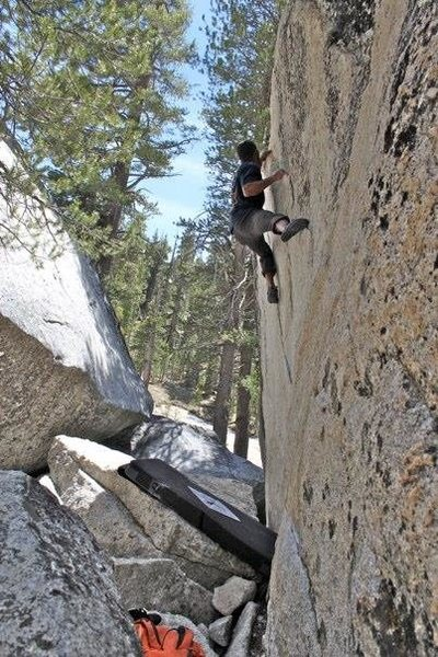 Dom Barry on problem G on a recent trip from Lake Tahoe.