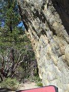 Rock Climbing Photo: The arete is steep!