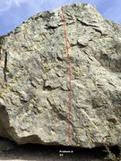 Rock Climbing Photo: Wasted Boulder west face topo
