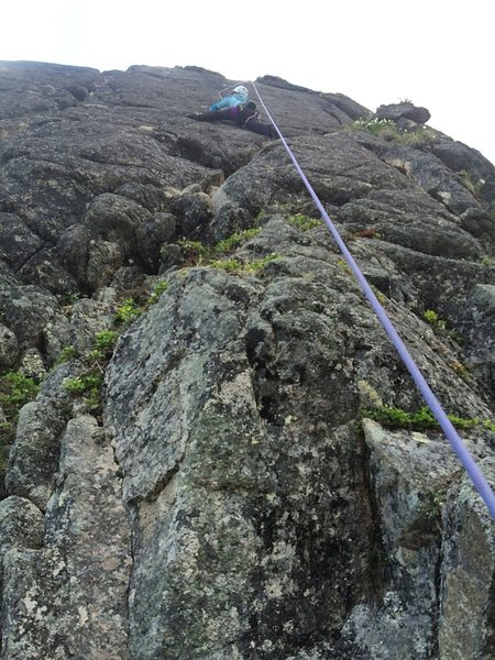Rock Climbing Photo: The route is less direct, with very thoughtful mov...