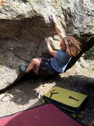 Rock Climbing Photo: Moving passed the start to the technical moves abo...