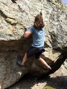 Rock Climbing Photo: Starting up the wall above the overhang
