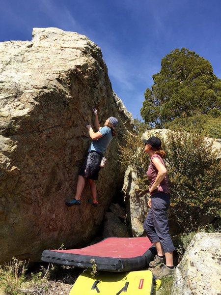 Rock Climbing Photo: Starting up Choss Face